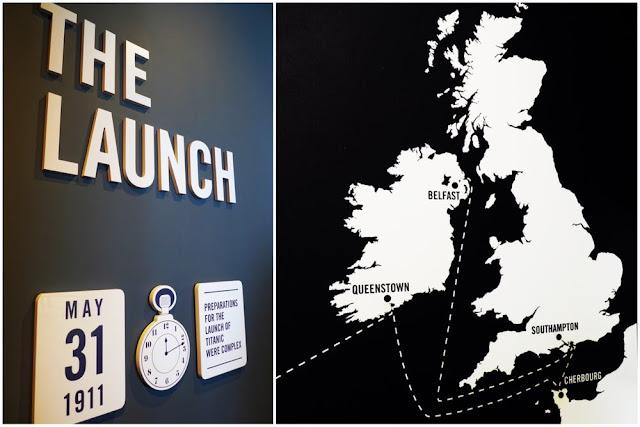 El lanzamiento del Titanic e itinerario del Titanic en la exposición del Museo del Titanic en Belfast