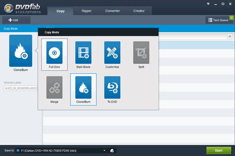 ������ ����� ��������� ������� ������� ������ �������� DVDFab 9.3.0.5