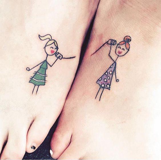 Tatuajes para hermanos, parejas o amigas