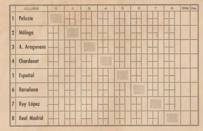 REverso de la carpeta del IV Campeonato de España por equipos 1960