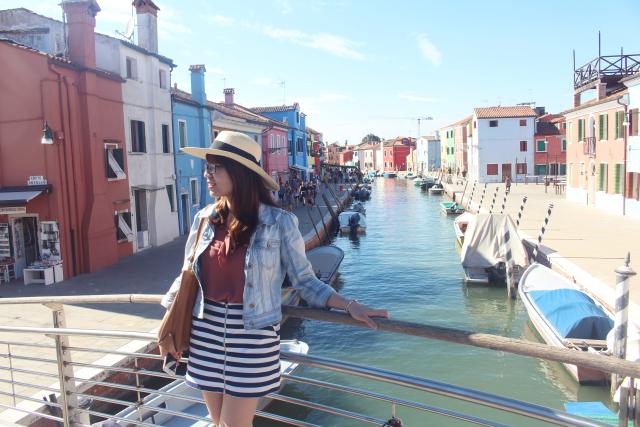 Tác giả bài viết tại thành Venice Ý