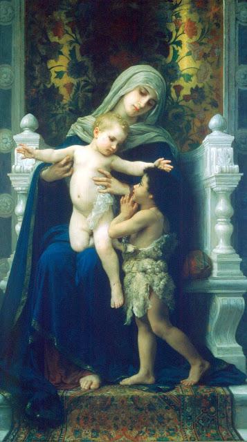 Адольф Вильям Бугро - Богоматерь, Иисус и Святой Иоанн Креститель (1881)
