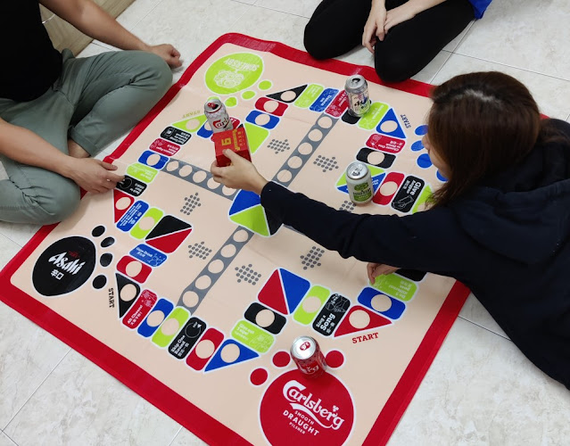 Make better bonding moments during this #StayAtHome period with a Carlsberg 120cm x 120cm board game mat applicable to CNY bundle purchases on Lazada, Shopee and Potboy.