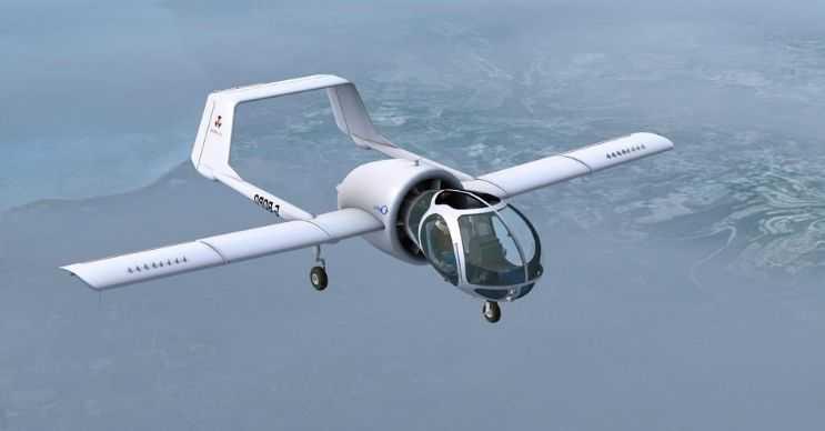 Edgley Optica son derece sıra dışı bir tasarıma sahipti ve oldukça hızlı uçuyordu.