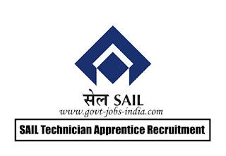 SAIL Technician Apprentice Recruitment 2020