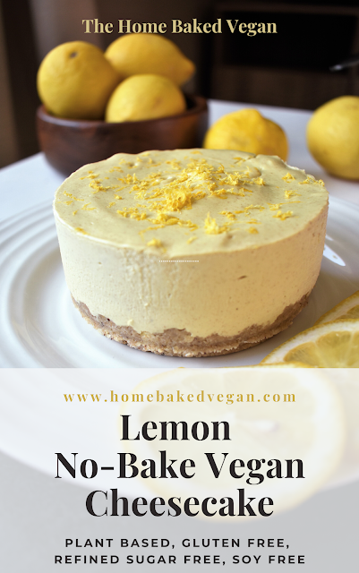 Gluten Free Lemon Vegan Cheesecake Dessert Pinterest