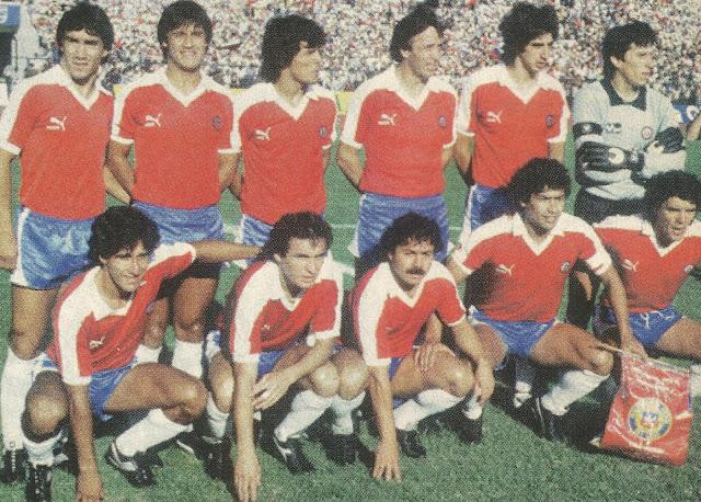 Formación de Chile ante Uruguay, Clasificatorias México 1986, 24 de marzo de 1985