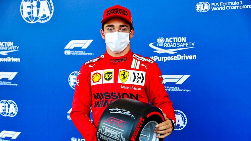 O segundo prêmio da pole position para Leclerc em 2021 veio em circunstâncias incomuns, mais uma vez