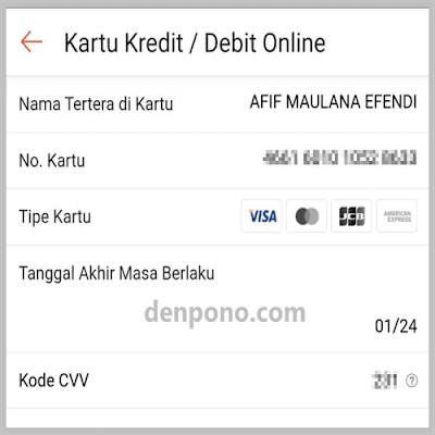 Bayar pakai debit card jenius