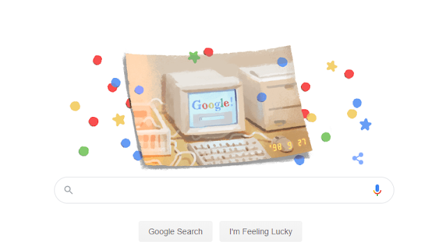 Google 21'st Birthday Doodle