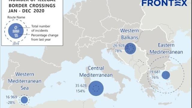 Πτώση 76% της παράτυπης μετανάστευσης προς την Ελλάδα