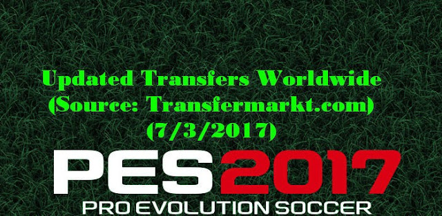 Option File PES 2017 Terbaru untuk PTE Patch 5.3 update 3/7/2017
