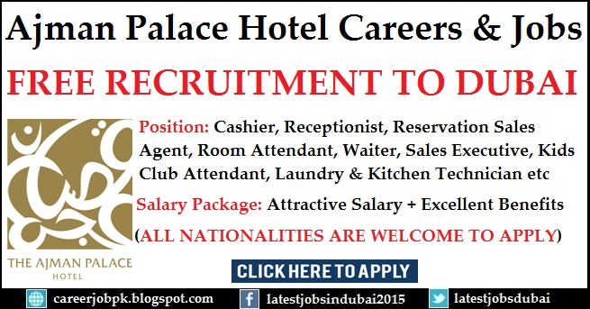 Ajman Palace Hotel Careers