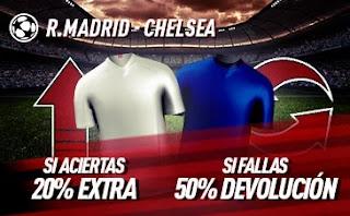 sportium promo Real Madrid vs Chelsea 27-4-2021