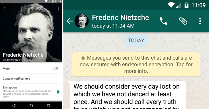 WhatsApp Just Switched on End-to-End Encryption by Default for its One billion Users