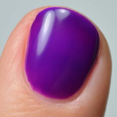 matte neon purple nail polish swatch