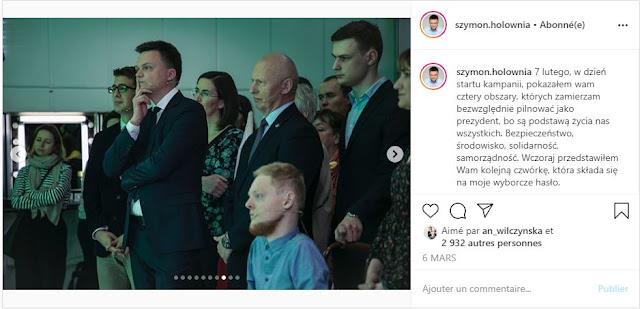 Szymon Hołownia na spotkaniu wyborczym