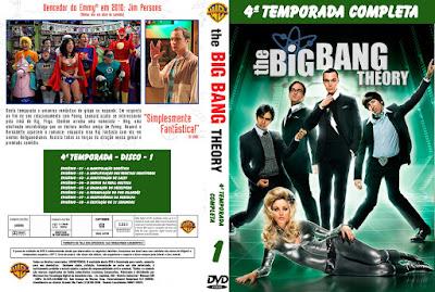 Série The Big Bang Theory 4º Temporada Completa DVD Capa