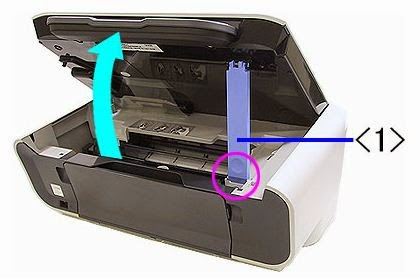 open the lid to remove the cartridges