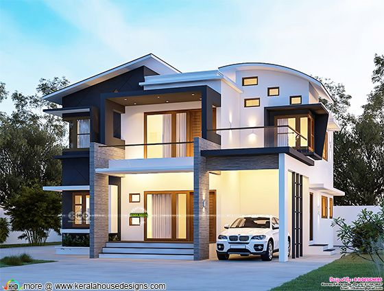 4 bedroom modern contemporary front elevation