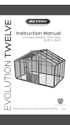 [EBOOK] 12' Wide Evolution Cedar Greenhouse Assembly Instructions