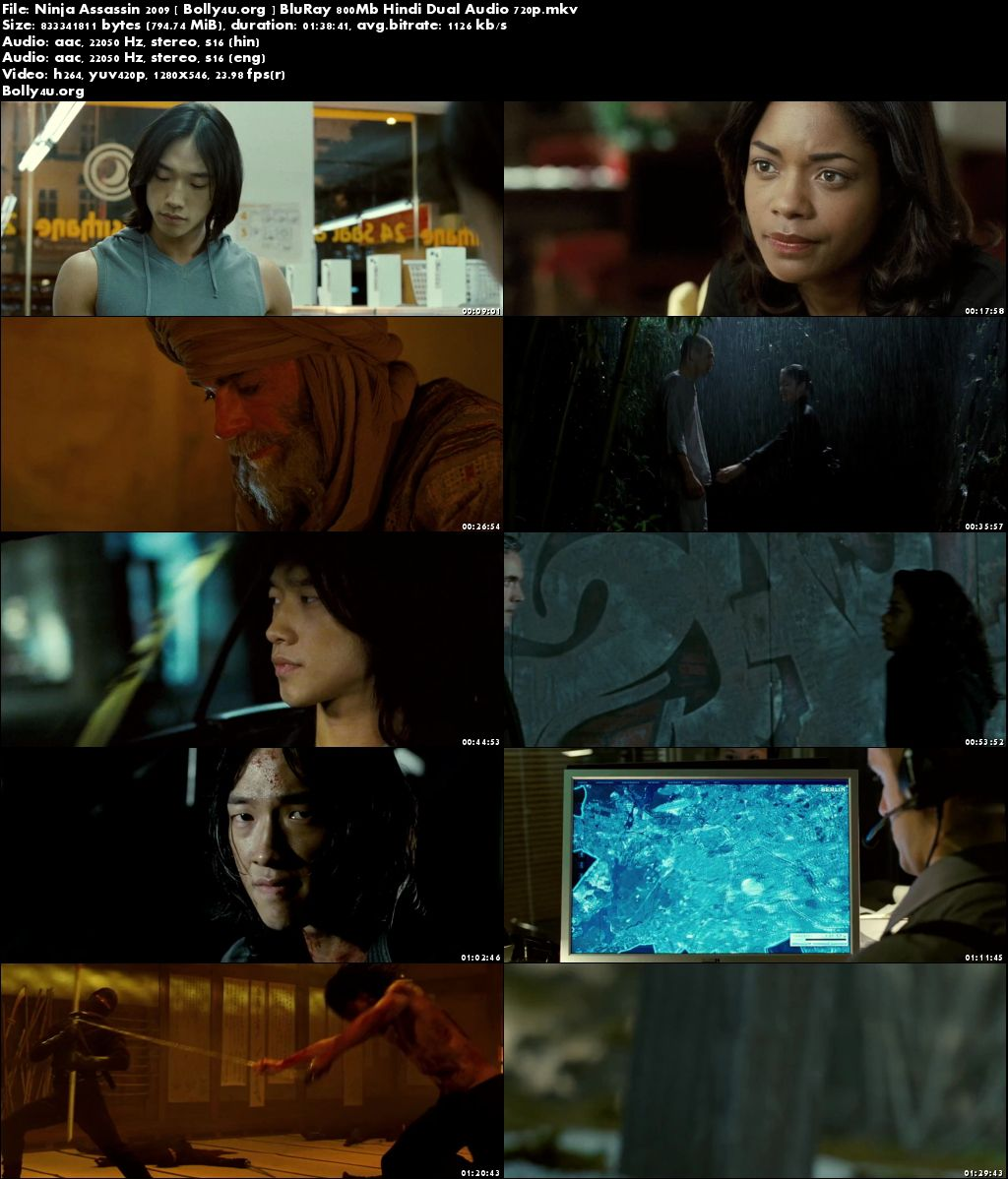 Ninja Assassin 2009 BluRay 300Mb Hindi Dual Audio 480p Download