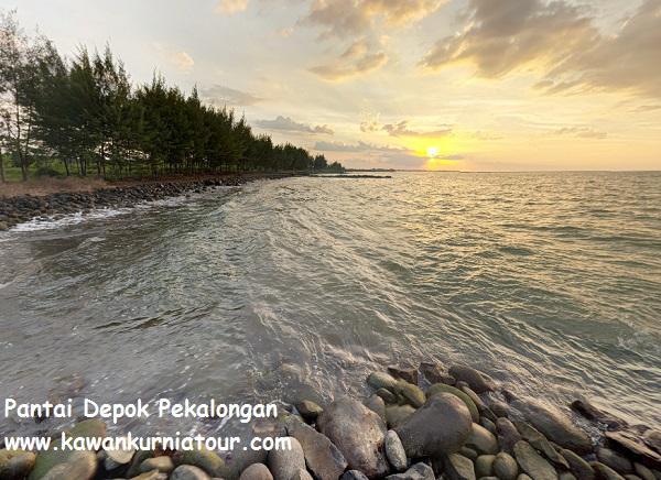 pantai depok pekalongan sunset