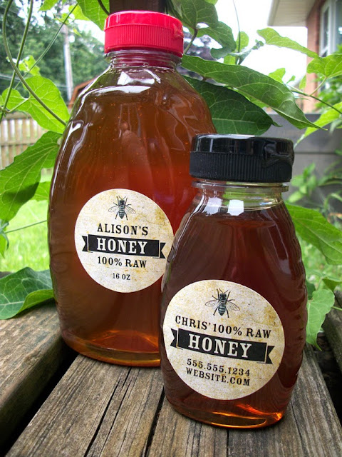custom honey labels