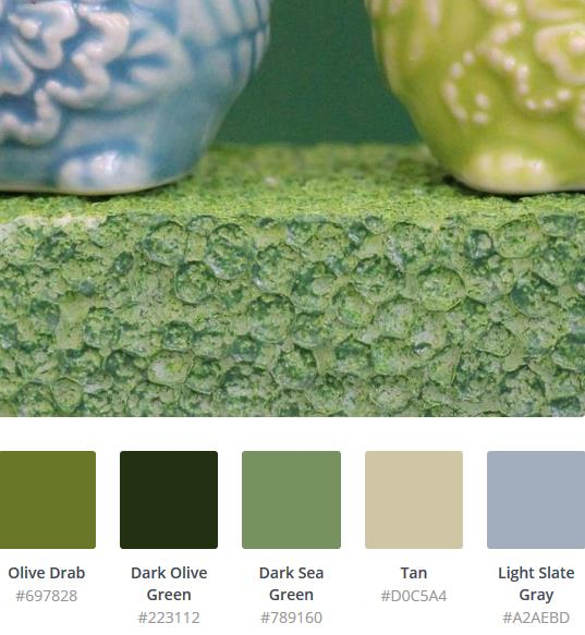 olive green hex codes