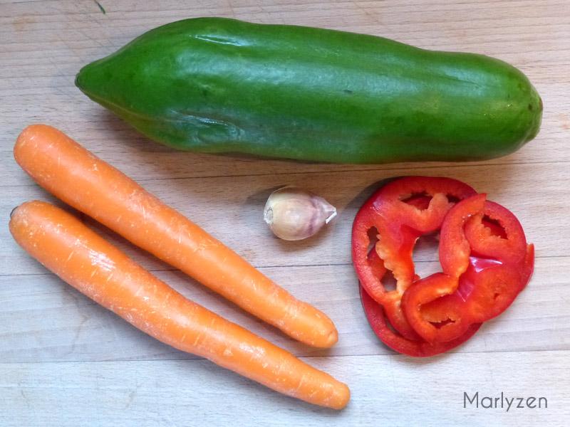 Salade de papaye verte à la crevette
