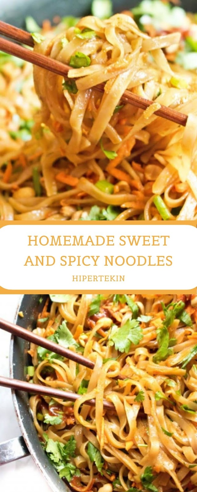 HOMEMADE SWEET AND SPICY NOODLES