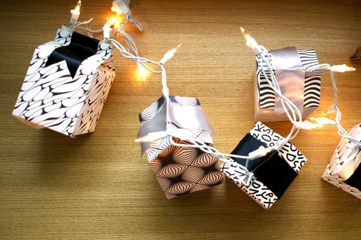 "Linterna de papel en forma de ""Milk Box"""