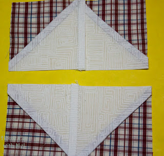Pressing seams for square in a square
