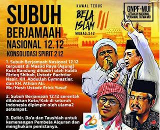 Panglima TNI dan Kapolri Hadiri Aksi 1212 di Bandung