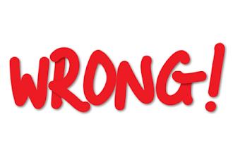 Wrong - Sbagliato