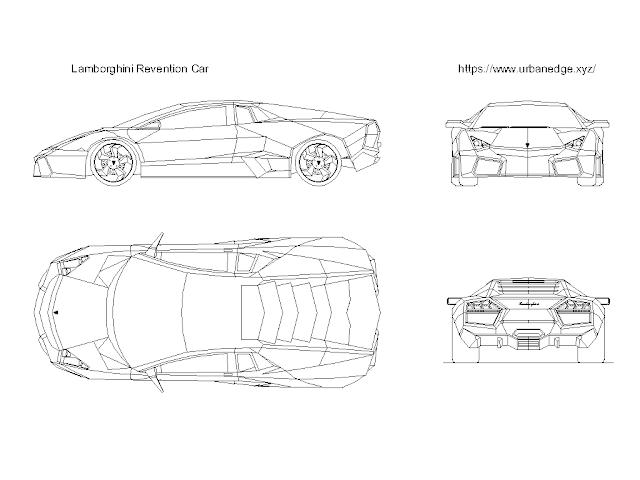 Car cad block free download - Lamborghini Reventon cad block