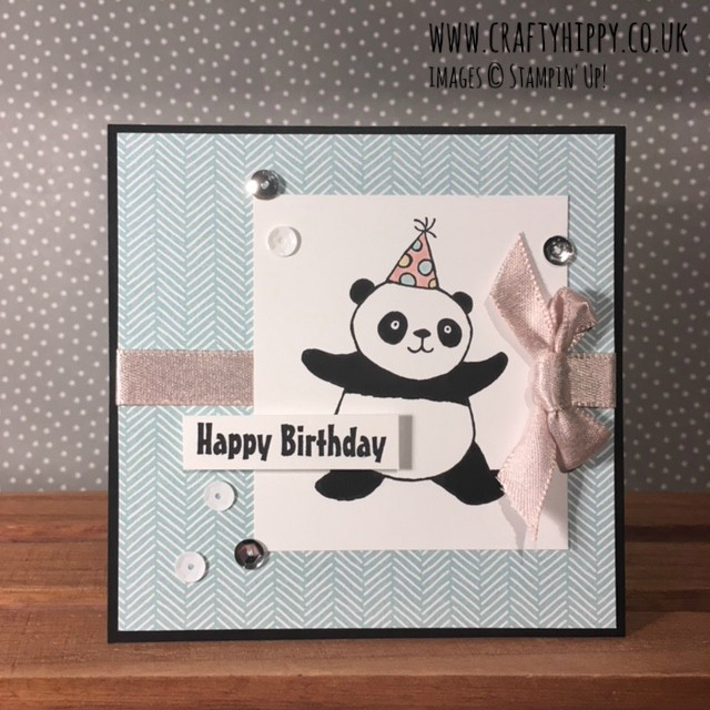 Take a look at this project made using the Party Pandas stamp set by Stampin' Up! You can get the Party Pandas stamp set free when you spend £45 on products.