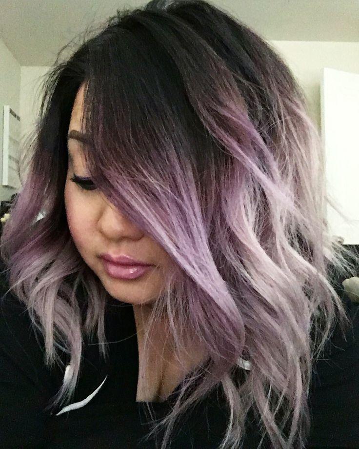 black hair light purple tips wwwpixsharkcom images