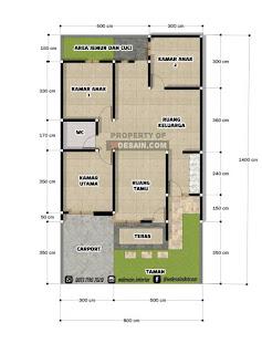 Denah Rumah 8x14 1 Lantai