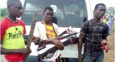 Amotekun Stops Northerners Sneaking Into Osun With Deadly Weapons, Charms (Photos)