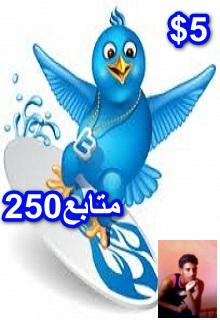 زيادة متابعين حسابك فى تويتر ب250متابع