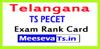 TS PECET Exam Rank Card