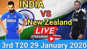 India vs New Zealand, 3rd T20I 2020, live