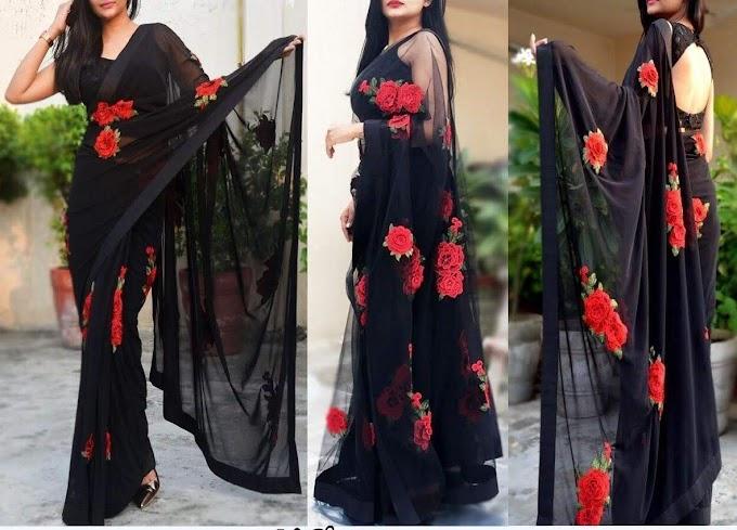 Black lovers( designer saree)