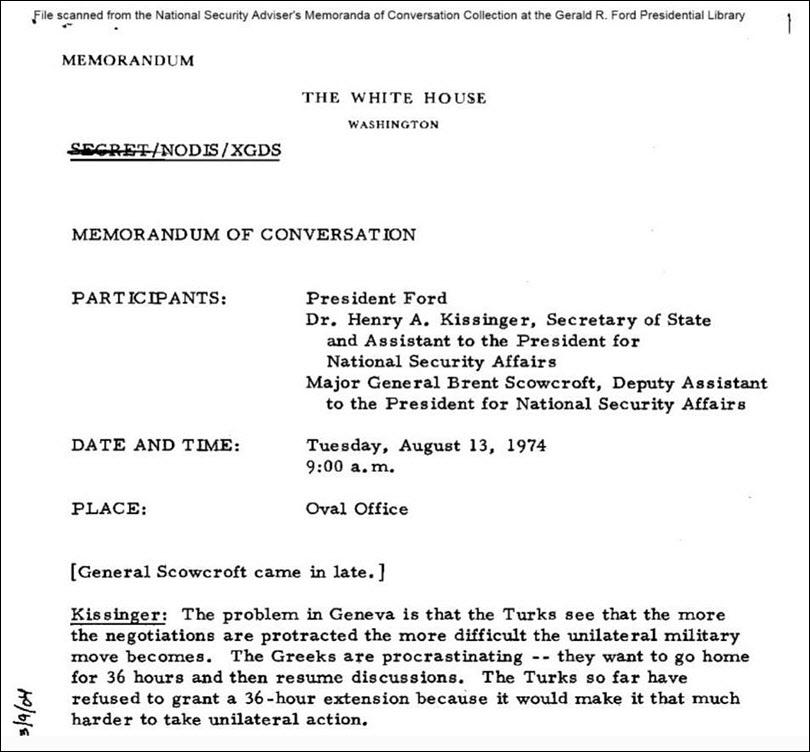 έγγραφα φωτιά για το ρόλο Κίσινγκερ στην τουρκική εισβολή στην Κύπρο - 1