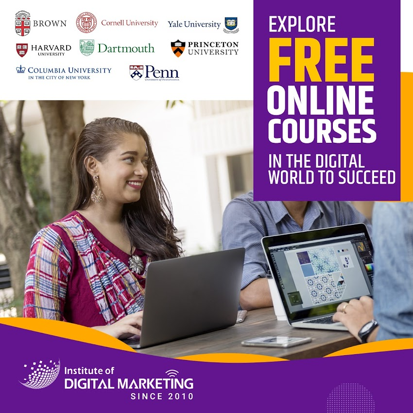 Explore free courses in the digital world to succeed