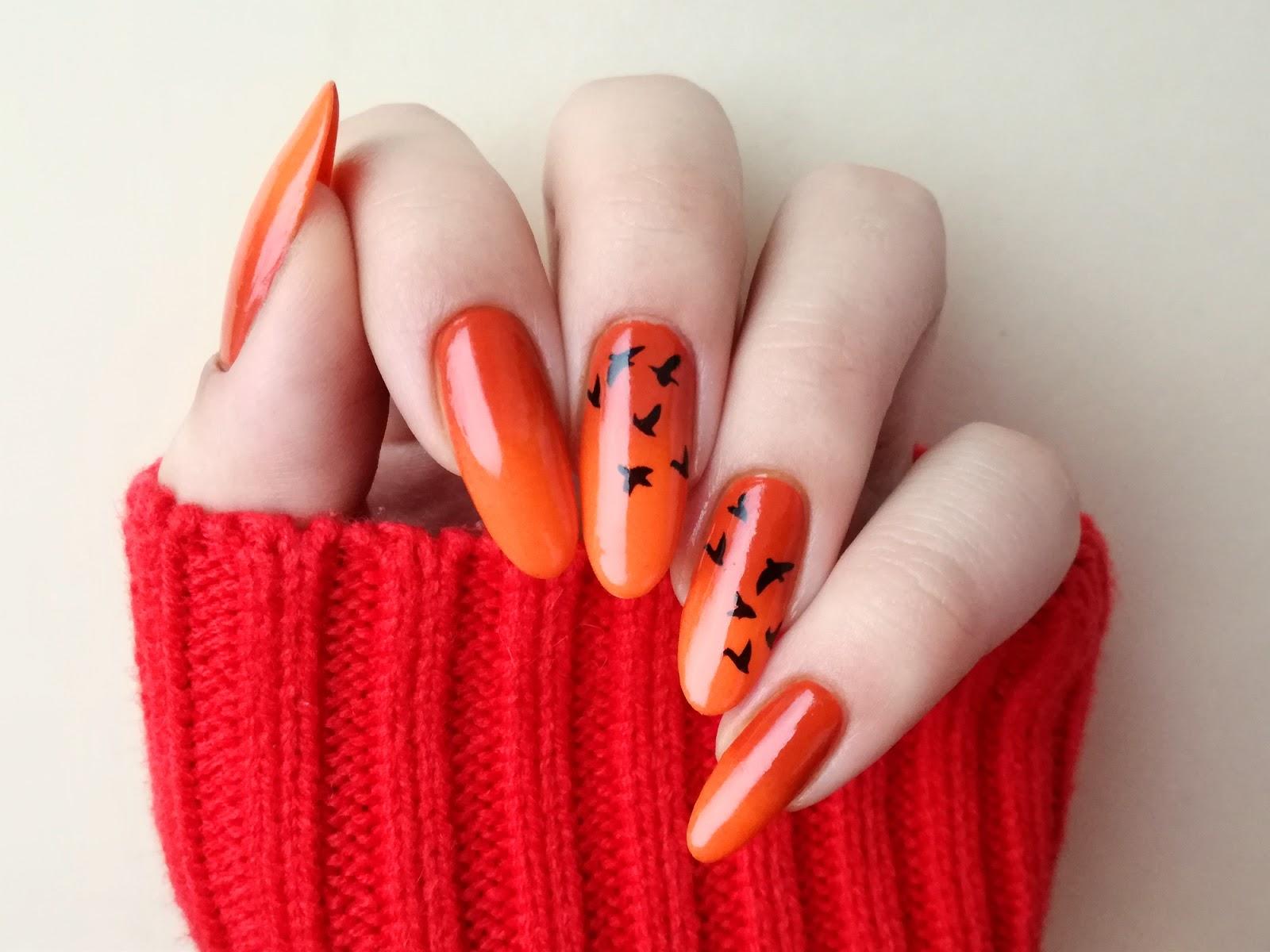 paznokcie halloween