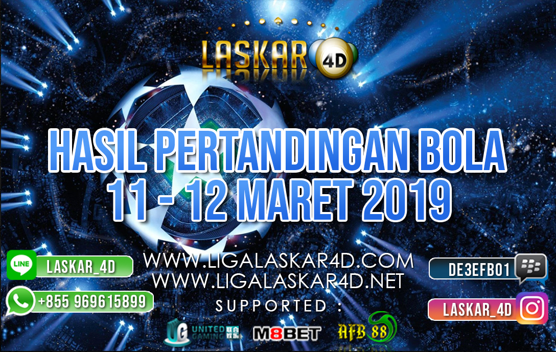 HASIL PERTANDINGAN BOLA 11 – 12 MAR 2019