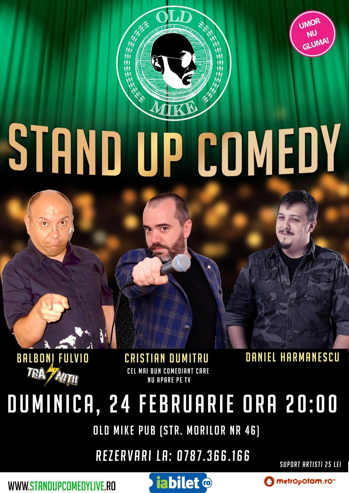 Stand-Up Comedy Duminica Seara in Bucuresti (24 februarie 2019)