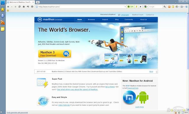 Maxthon Cloud Browser Terbaru untuk Windows